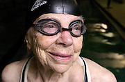 Beth Hanks of Sebring, Ohio will participate in the swimming portion the Senior Olympics in Akron. Beth is 91 years old. She swims the backstroke and freestyle. Beth practices at the YMCA in Alliance.