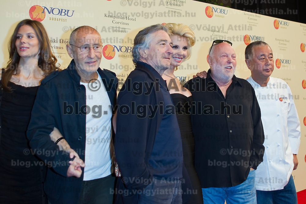 Celebrities arrive on the red carpet during the official opening of the Nobu restaurant in. Budapest, Hungary, Sunday, 10. October 2010. ATTILA VOLGYIActors Colm Feore and Robert De Niro pose in the company of producer Andrew G Vajna and chef Nobu Matsuhisa when Celebrities arrive on the red carpet during the official opening of the Nobu restaurant in. Budapest, Hungary, Sunday, 10. October 2010. ATTILA VOLGYI