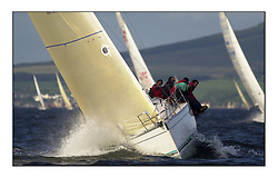 Yachting- The start of the Bell Lawrie Scottish series 2002 at Gourock racing overnight to Tarbert Loch Fyne where racing continues over the weekend.<br /><br />2 Sassy IRL3702 Sunfast 37 <br />class 3<br /><br />Pics Marc Turner / PFM