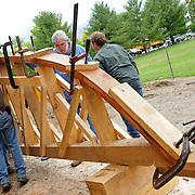 June 14, 2011. Bending the stern center line plank.