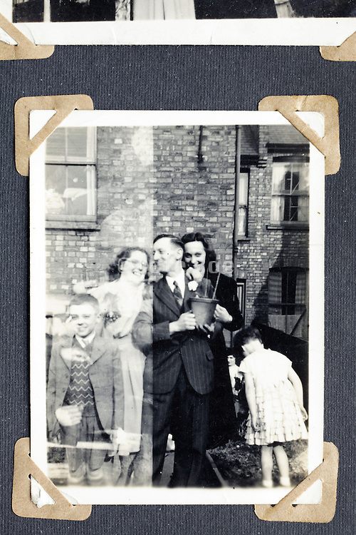 family pictures of which negative is accidental double exposed