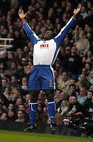 Photo: Olly Greenwood.<br /> West Ham United v Portsmouth. The Barclays Premiership. 26/12/2006. Portsmouth's Linvoy Primus celebrates scoring