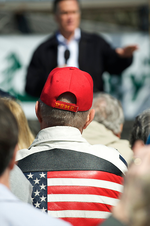 Supporters attend a rally for Republican Presidential candidate Mitt Romney at Mountain Energy Services in Tunkhannock, Pennsylvania on April 5, 2012.