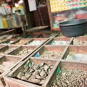 NYAUNG-U, Myanmar - A variety of traditional medicines and remedies for sale at Nyaung-U Market, near Bagan, Myanmar (Burma).