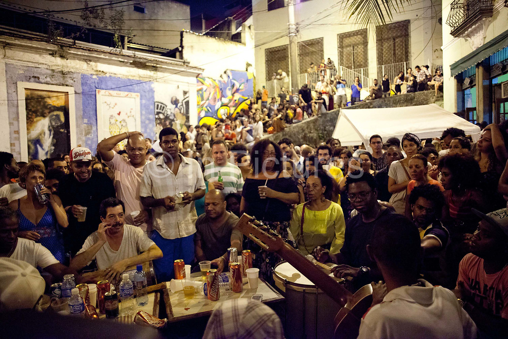Pedra do Sal, the birthplace of Samba, in Gamboa district which was the neighbourhood where the ex slaves lived after abolition, sometimes referred to as the first favela. Rio de Janeiro, Brazil