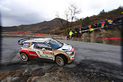 17.01.2014, Stage 10, Sisteron, FRA, FIA, WRC, Rallye Monte Carlo, 2. Tag, im Bild MEEKE Kris / NAGLE Paul ( CITROEN TOTAL ABU DHABI WRT (FRA) / CITROEN DS3 ), Aktion / Action // during Stage 10 on day two of FIA Rallye Monte Carlo held near Monte Carlo, France on 2014/01/17. EXPA Pictures © 2014, PhotoCredit: EXPA/ Eibner-Pressefoto/ Neis<br /> <br /> *****ATTENTION - OUT of GER*****