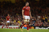 Sam Warburton, the Wales captain looks on. Rugby World Cup 2015 pool A match, Wales v Uruguay at the Millennium Stadium in Cardiff, South Wales  on Sunday 20th September 2015.<br /> pic by  Andrew Orchard, Andrew Orchard sports photography.