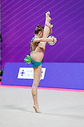 Margarita Kolosov from Germany competing in the Rhythmic Gymnastics World Cup at Vitrifrigo Arena on 28/29 May 2021, Pesaro, Italy. She was born in Potsdam in 2004.