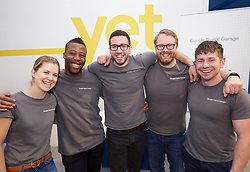 Staff at the Google Digital Garage in Shandwick Place, Edinburgh mark its closure after a year giving free digital advice. Left to right: Coaches Anna Kearney, Misha Cunningham, Mate Borka, Scott McBay, Ryan Gavan. pic copyright Terry Murden @edinburghelitemedia