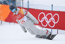 USA's Ryan Stassel in run 1 of qualification for Men's Snowboard Slopestyle the PyeongChang 2018 Winter Olympic Games in South Korea.
