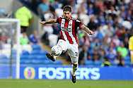 Kieron Freeman of Sheffield United in action.EFL Skybet championship match, Cardiff city v Sheffield Utd at the Cardiff City Stadium in Cardiff, South Wales on Tuesday 15th August 2017.<br /> pic by Andrew Orchard, Andrew Orchard sports photography.