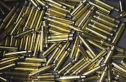 Duitsland, Marburg, 1-12-2013Messing, koperen kogelhulzen van een jachtgeweer.Foto: Flip Franssen/Hollandse Hoogte