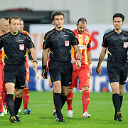 Referee's Ozgur YANKAYA (C) during their Turkish superleague soccer match Besiktas between Kayserispor at BJK Inonu Stadium in Istanbul Turkey on Saturday, 15 October 2011. Photo by TURKPIX
