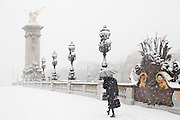 Paris, France. 8 Decembre 2010.Pont Alexandre III..Paris, France. December 8th 2010.Pont Alexandre III.