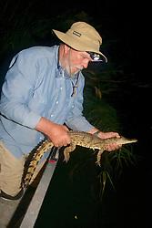 Richard Ferris Releasing Crocodile