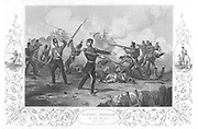 Russo-Turkish  (Crimean) War 1853-1856. Siege of Sebastopol, October 1854 to September 1855. General Charles Ash Windham (1810-1870) at the unsuccessful British assault on the Redan, 8 September 1855. Engraving