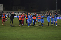 November 3, 2018 - Vercelli, Italy - Novara Calcio's team after Saturday evening's match against Novara Calcio valid for the 10th day of the Italian Lega Pro championship  (Credit Image: © Andrea Diodato/NurPhoto via ZUMA Press)