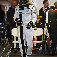 Porsche driver Joerg Bergmeister (#91) getting ready for his stint on Sunday, 23 June 2013 (Le Mans 24H)
