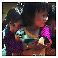 Little kids in a school of Bac Ha, Vietnam, Asia