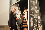 NICK RHODES; NEFER SUVIO, Richard Hamilton opening, Tate Modern. London. 11 February 2014