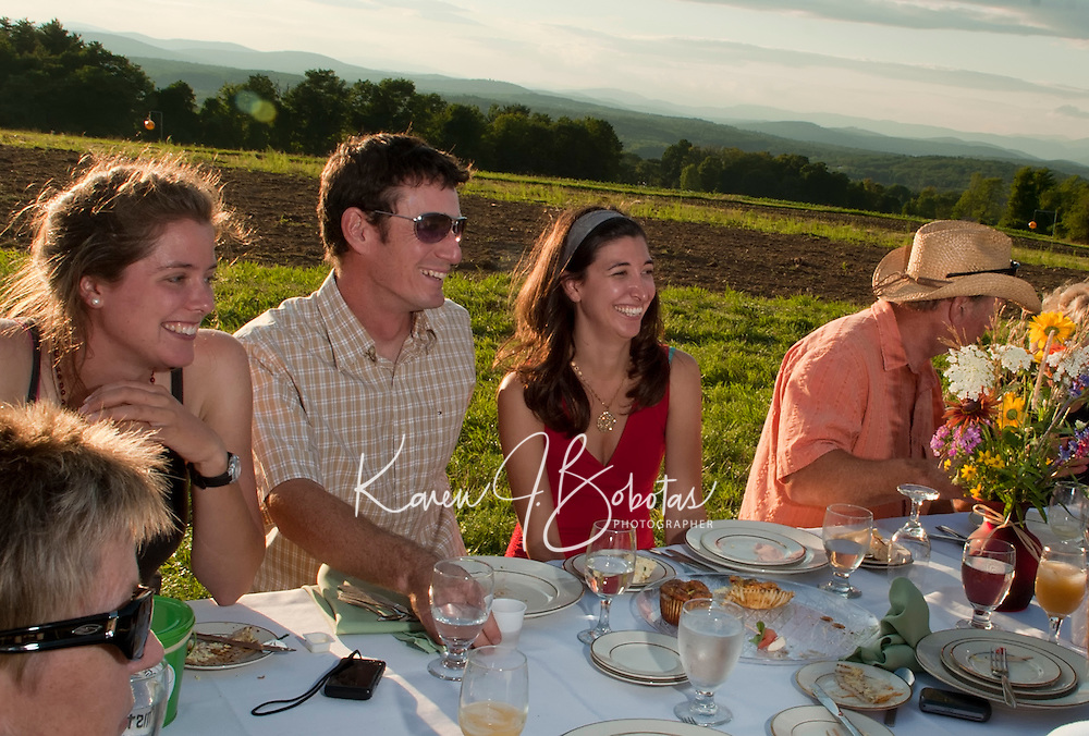 Beans and Greens Farm to Table Dinner in the Field July 27, 2011.