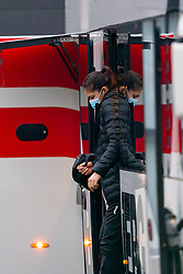 Martine Smeets gets off the bus for training during the Women's EHF Euro 2020 at Sydbank Arena on December 9, 2020 in Kolding, Denmark (Photo by RHF Agency / Ronald Hoogendoorn)