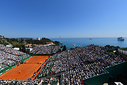 April 22, 2018 - Monte Carlo, Monaco - Rafael Nadal vs Kei Nishikori in the men;s singles final, in the Monte Carlo Rolex Masters, at Monte Carlo Country Club. (Credit Image: © Panoramic via ZUMA Press)