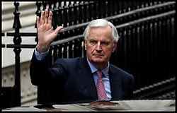 February 5, 2018 - London, London, United Kingdom - Michel Barnier in UK for Brexit talks. Michel Barnier arrives at No10 Downing Street for talks with the British Prime Minister Theresa May and Secretary of State for Exiting the European Union David Davis  (Credit Image: © Andrew Parsons/i-Images via ZUMA Press)