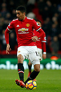 Chris Smalling of Manchester United in action. Premier league match, Tottenham Hotspur v Manchester Utd at Wembley Stadium in London on Wednesday 31st January 2018.<br /> pic by Steffan Bowen, Andrew Orchard sports photography.