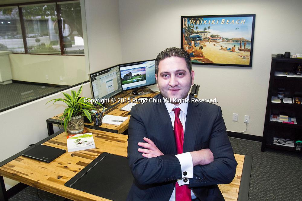 Aaron Schoenberger, Chief Executive Officer Soteria Intelligence.<br /> Photo by Ringo Chiu/PHOTOFORMULA.com)