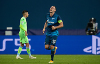 SAINT PETERSBURG, RUSSIA - NOVEMBER 04: Artem Dzyuba of Zenit St Petersburg during the UEFA Champions League Group F stage match between Zenit St. Petersburg and SS Lazio at Gazprom Arena on November 4, 2020 in Saint Petersburg, Russia.(Photo by MB Media)