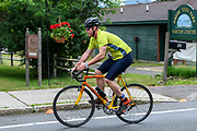Scotty Glass during the bike segment in the 2018 Hague Endurance Festival Sprint Triathlon