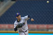 Durham Bulls pitcher Blake Snell (31) delivers a pitch during the MiLB International Championship baseball game against the Columbus Clippers, Thursday, September 12, 2019, in Durham, N.C. The Clippers beat the Bulls 6-2 to complete a three-game sweep of the two-time defending champion. (Brian Villanueva/Image of Sport)