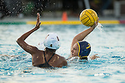 Brooke Indihar-Loo (7) looks to attack the net against Monta Vista during a girl's varsity water polo match at Milpitas High School in Milpitas, California, on September 6, 2016. (Stan Olszewski/SOSKIphoto)