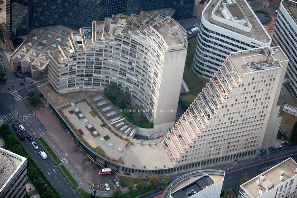 Commercial buildings near La Defense, a major business district of the Paris Metropolitan area.