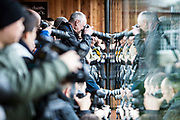 Photographers gather to photograph the tigers during the ZSL London Zoo Annual Stocktake 2015. Responsible for the care of more than 750 different species, keepers face the formidable task of noting every mammal, bird, reptile, fish and invertebrate at the Zoo.
