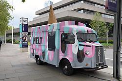 Mobile ice cream van, South Bank, London April 2019