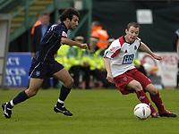 Fotball<br /> 2004/2005<br /> Foto: SBI/Digitalsport<br /> NORWAY ONLY<br /> <br /> Brighton v Sheffield United<br /> <br /> Coca-Cola Championship 02/10/04.<br /> <br /> Alan Quinn on the ball for Sheff U