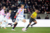 FOOTBALL - FRENCH CHAMPIONSHIP 2011/2012 - L1 - PARIS SAINT GERMAIN v EVIAN TG - 4/02/2012 - PHOTO JEAN MARIE HERVIO / DPPI - OLIVIER SORLIN (EVI)