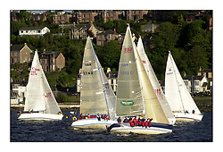 Yachting- The start of the Bell Lawrie Scottish series 2002 at Gourock racing overnight to Tarbert Loch Fyne where racing continues over the weekend.<br /><br />X 332 Tundra GBR3072C above Class 3<br /><br />Pics Marc Turner / PFM
