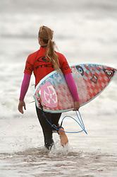 Surfer at O'Neill British surfing championship Tynemouth UK