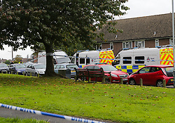 © Licensed to London News Pictures. 20/09/17. Tunbridge Wells, UK.  Emergency services attend a property in Tunbridge Wells in Kent where chemicals are reported to have been found. A bomb disposal team was called in when a fire crew, responding to a house fire, found suspicious items at an address. Residents have been evacuated from parts of Brokes Way. Photo credit: Grant Melton/LNP