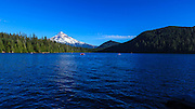 USA, Oregon, Mt. Hood National Forest, Lost Lake, boaters enjoying a summer day on the lake.
