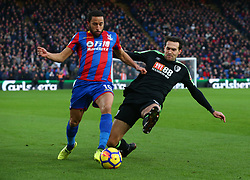 December 9, 2017 - London, Greater London, England - Crystal Palace's Andros Townsend gets tackled by Bournemouth's Charlie Daniels..during Premier League  match between Crystal Palace and AFC Bournemouth at Selhurst Park Stadium, London,  England 09 Dec 2017. (Credit Image: © Kieran Galvin/NurPhoto via ZUMA Press)
