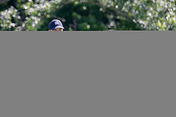May 18, 2018 - Dallas, TX, U.S. - DALLAS, TX - MAY 18:  Jordan Spieth of the United States lines up his putt on #17 during the second round of the 50th anniversary AT&T Byron Nelson on May 18, 2018 at Trinity Forest Golf Club in Dallas, TX.  (Photo by Andrew Dieb/Icon Sportswire) (Credit Image: © Andrew Dieb/Icon SMI via ZUMA Press)