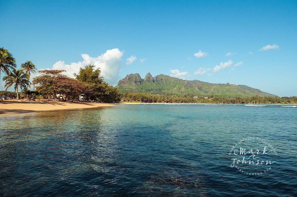 Anahola Bay & Mountains, Kauai, Hawaii