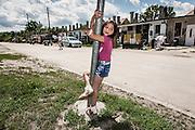 Budapest, Hungary, June 2013, Roma/Hungarian settlement in Esztergom. PHOTO © Christophe Vander Eecken