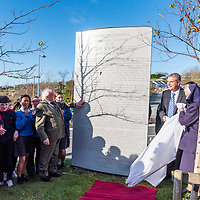 President Higgins unveiling the Irish Proclamation sculpture at Kinsale Community School.<br /> Picture. John Allen