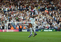 Photo: Rich Eaton.<br /> <br /> West Bromwich Albion v Leeds United. Coca Cola Championship. 30/09/2006. Martin Albrechtsen of West Brom celebrates scoring the first goal of the game
