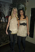 POPPY DELAVIGNE AND SALONI LODHA , Party to launch CARAT a new diamond brand, Kitts. Sloane sq. London. 20 December 2007.  -DO NOT ARCHIVE-© Copyright Photograph by Dafydd Jones. 248 Clapham Rd. London SW9 0PZ. Tel 0207 820 0771. www.dafjones.com.